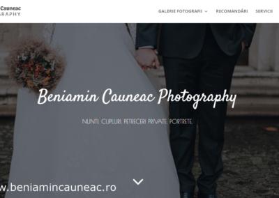 Beniamin Cauneac Photography (website creation)