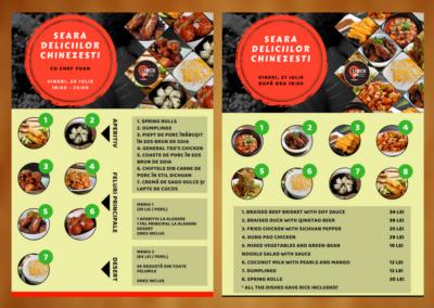 Check-IN Bistro (Event posters design)