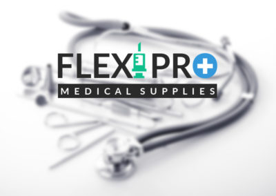 FlexiPro (logo design, branding, business card)