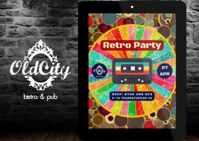 OldCity Bistro&Pub (Poster print design, Facebook covers design)