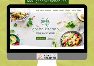 Green Kitchen RO (website creation, social media marketing, branding, content writing & more)