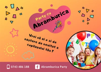Abramburica Party (Flyer design, Facebook page creation, social media marketing)