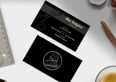 Alex Draghici Barber (Logo design, business card design, social media)
