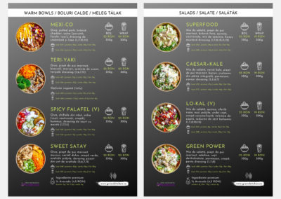 Green Kitchen RO (menu design)