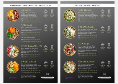 Green Kitchen (menu design)