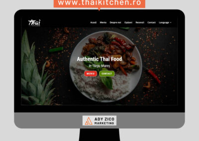 Thai Kitchen Mures (website creation, content writing, photo edit, on-site SEO)
