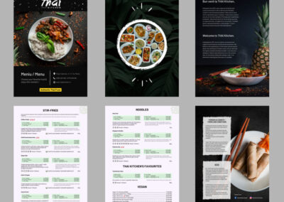 Thai Kitchen Mures (A4 menu design, 12 pages, ready for print)