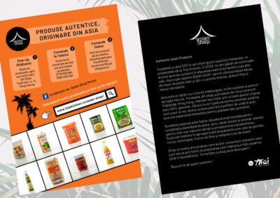 Asian Shop by Thai Kitchen (flyer design, content writing)